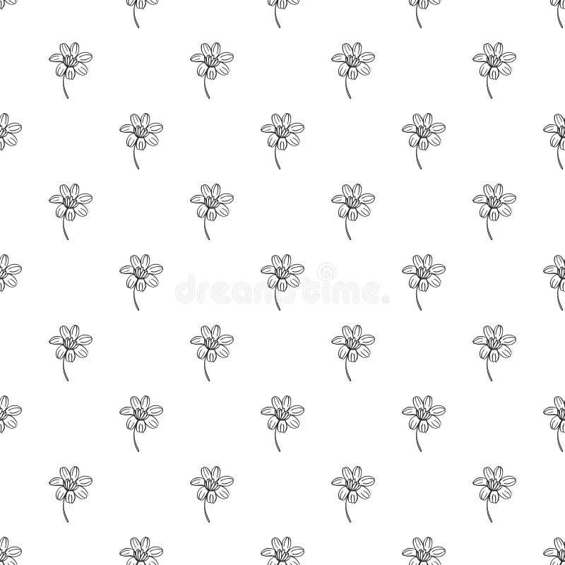 Modèle de Calendula sans couture illustration de vecteur