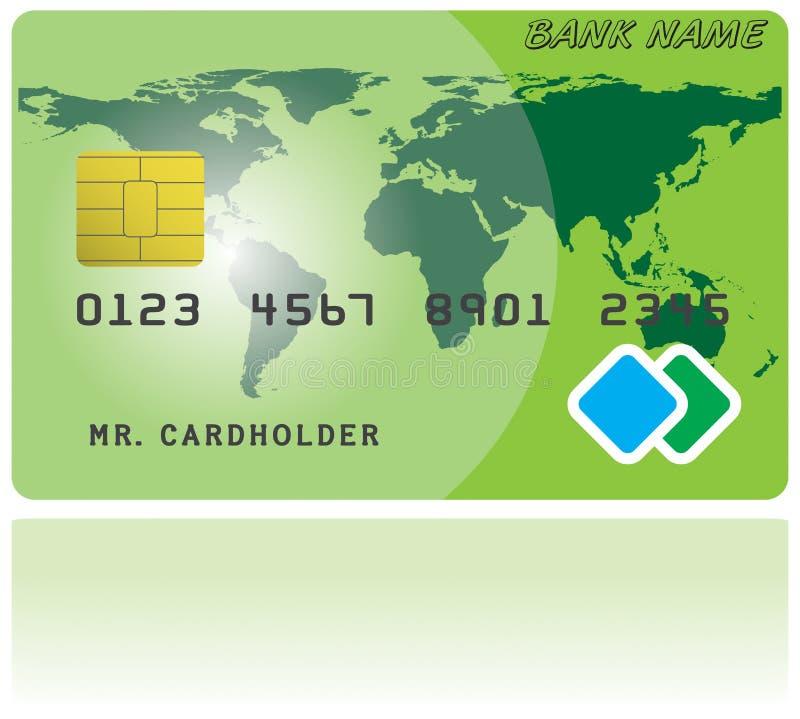 Modèle de carte de crédit illustration stock