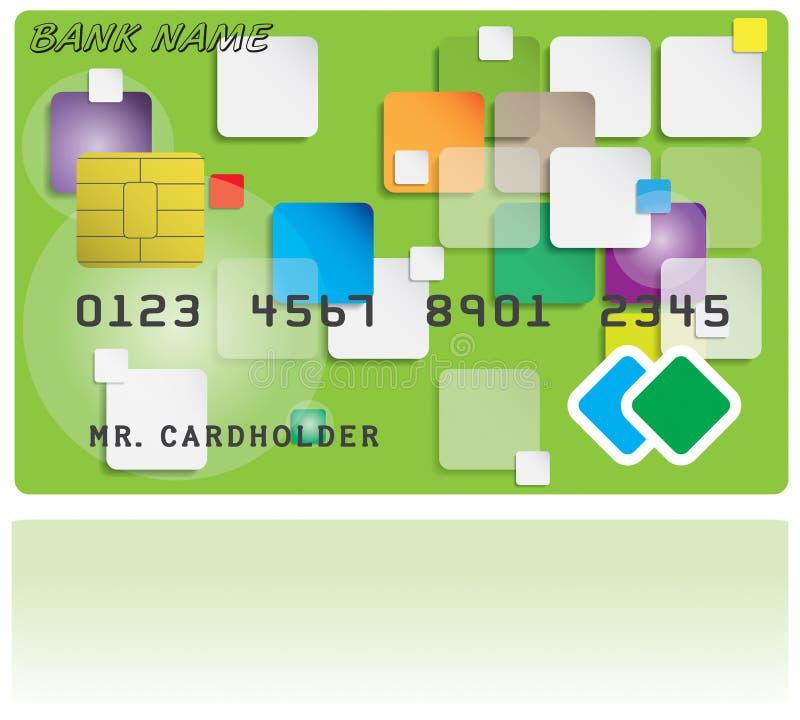 Modèle de carte de crédit illustration de vecteur
