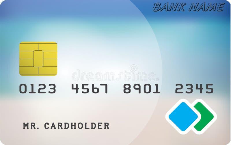 Modèle de carte de crédit illustration libre de droits