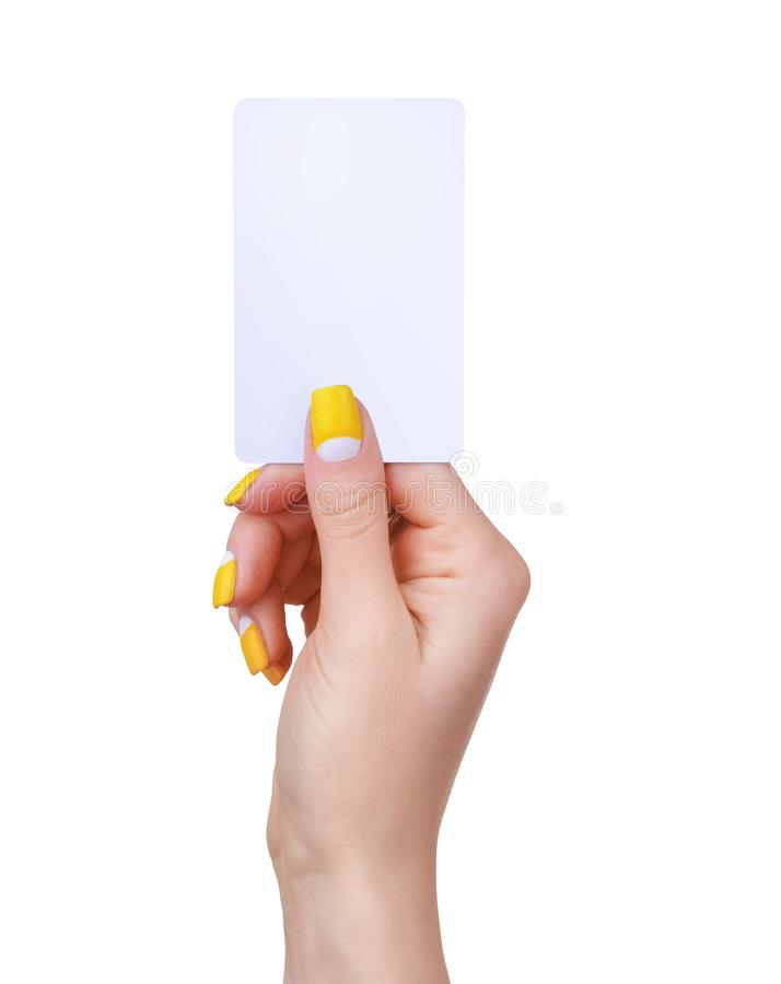 Modèle de carte de visite en papier vierge, pièce isolée sur fond blanc photo libre de droits