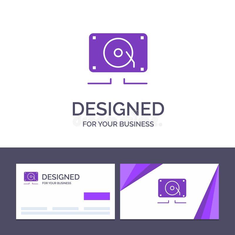 Modèle de carte de visite et de logo pour la création Musique, audio, haut-parleur, forte illustration de vecteur illustration de vecteur