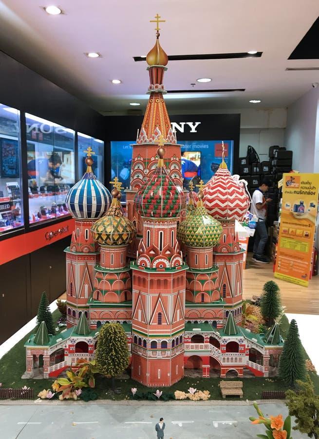 Modèle de cathédrale du St Basil de Moscou à Bangkok photographie stock