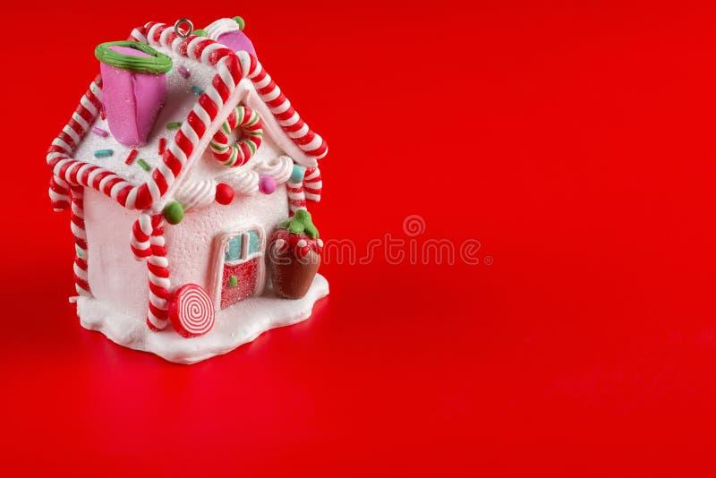Modèle de Chambre avec la décoration de Noël photographie stock libre de droits