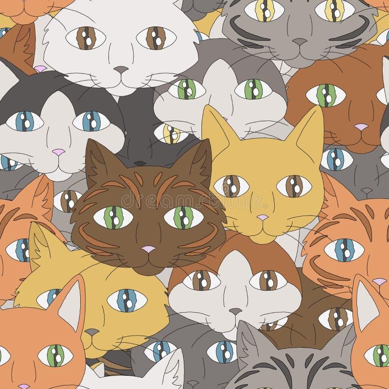 Modèle de chat illustration stock