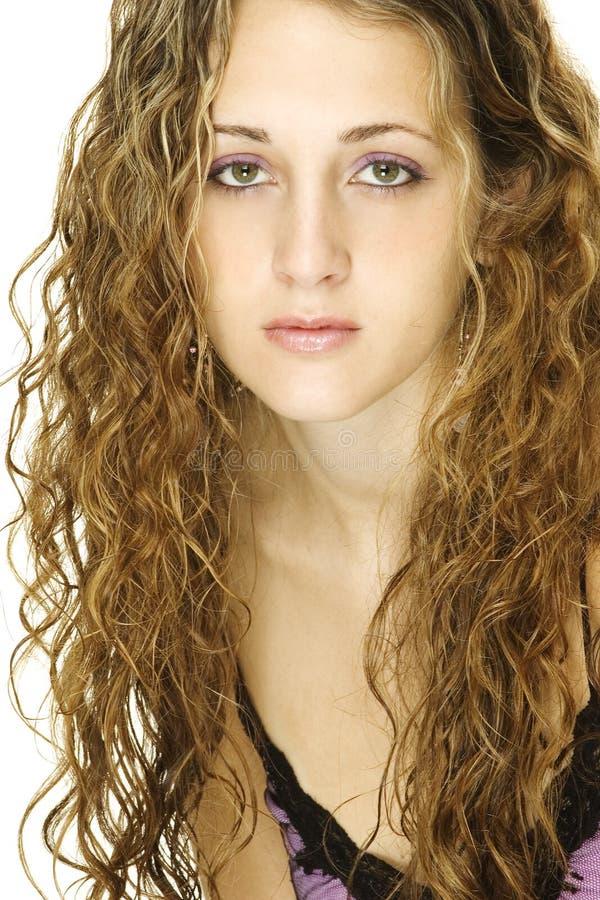 Modèle de cheveu images stock