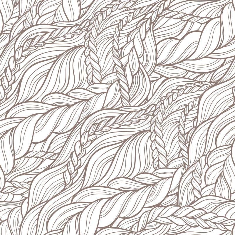 Modèle de cheveux de tresse illustration libre de droits