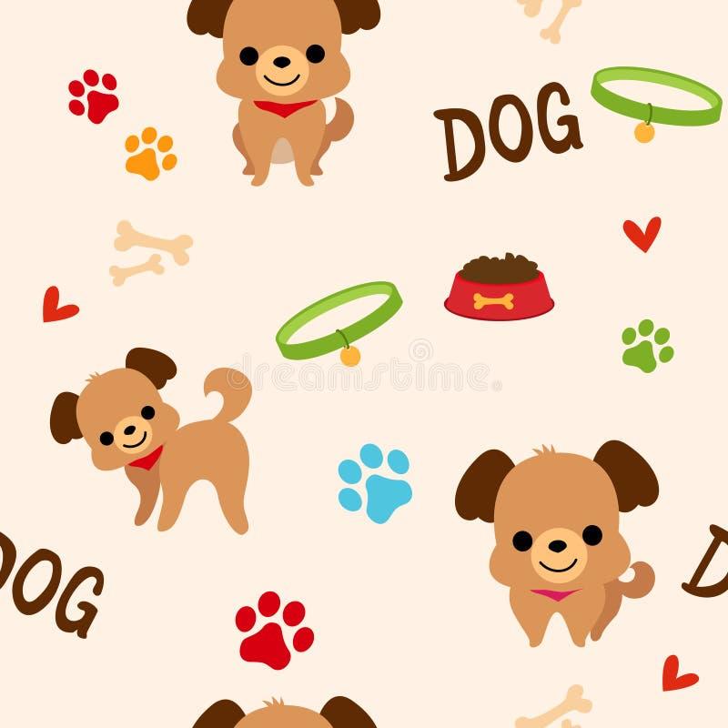 Modèle de chien illustration de vecteur