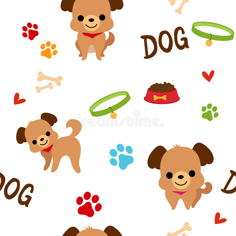 Modèle de chien illustration stock