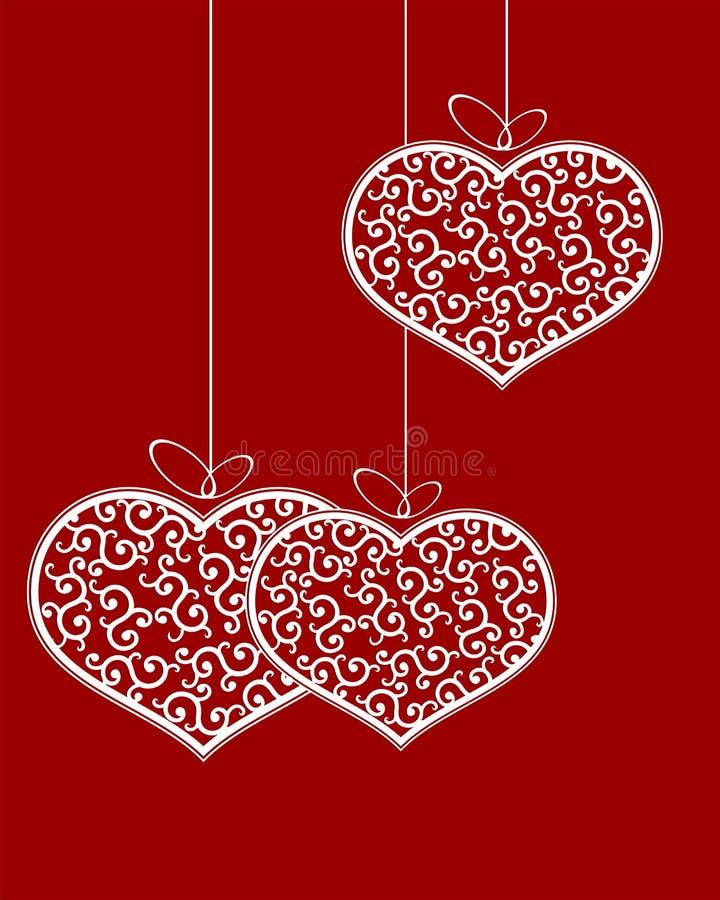Modèle de coeur rétro avec l'arc illustration de vecteur