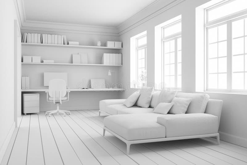 Modèle de conception intérieure de pièce de siège social illustration de vecteur