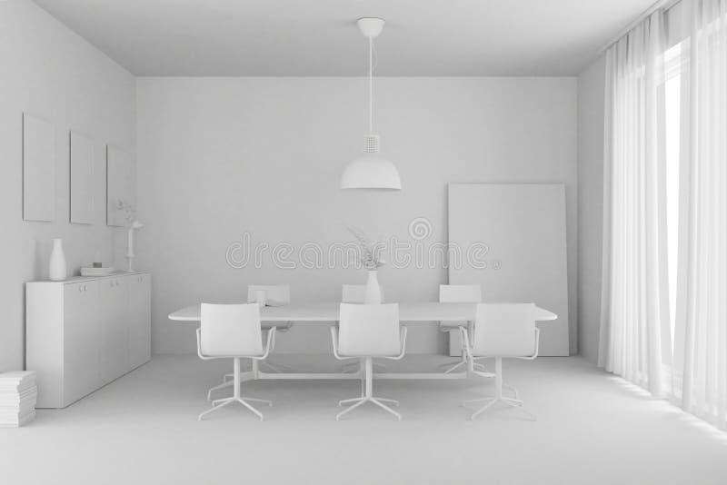 Modèle de conception intérieure de salle à manger illustration libre de droits