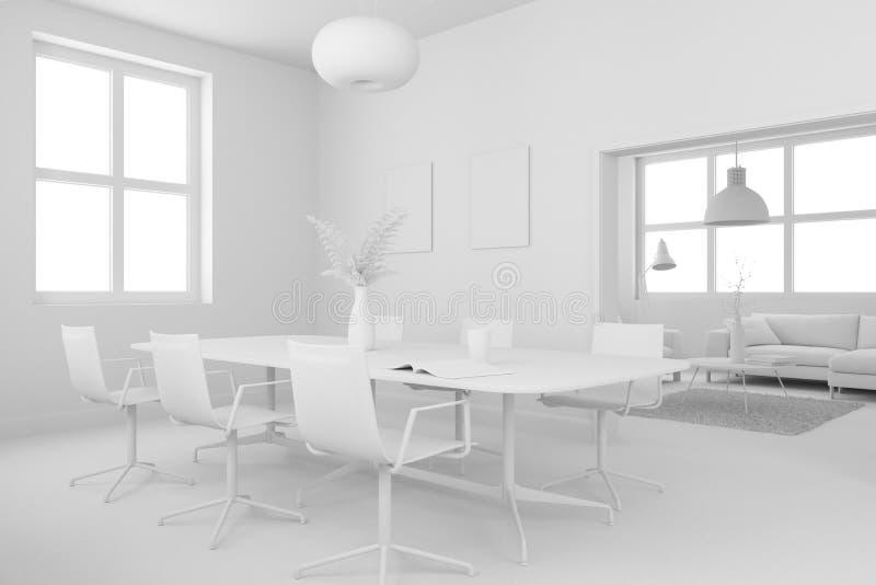 Modèle de conception intérieure de salle à manger illustration de vecteur