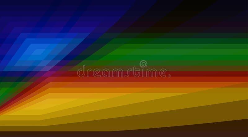Modèle de couleurs foncées avec des formes géométriques Fond de vecteur illustration libre de droits