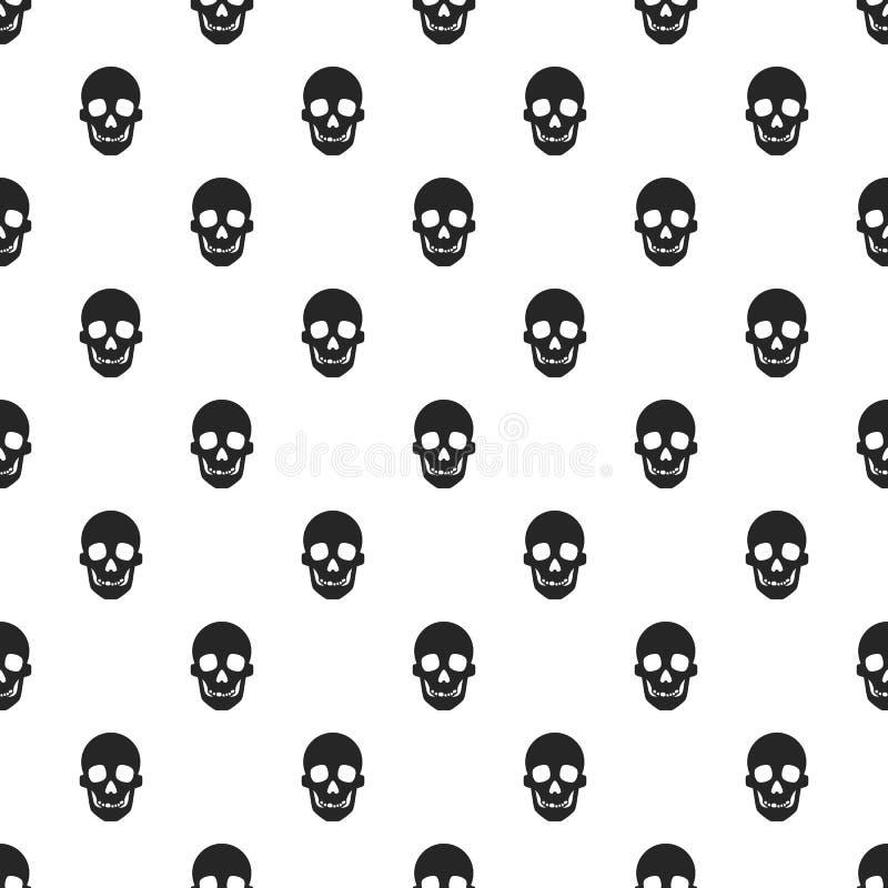 Modèle de crâne sans couture illustration stock