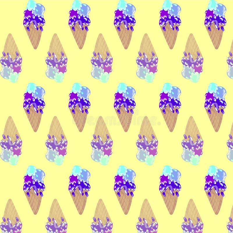Modèle de crème glacée  photographie stock libre de droits