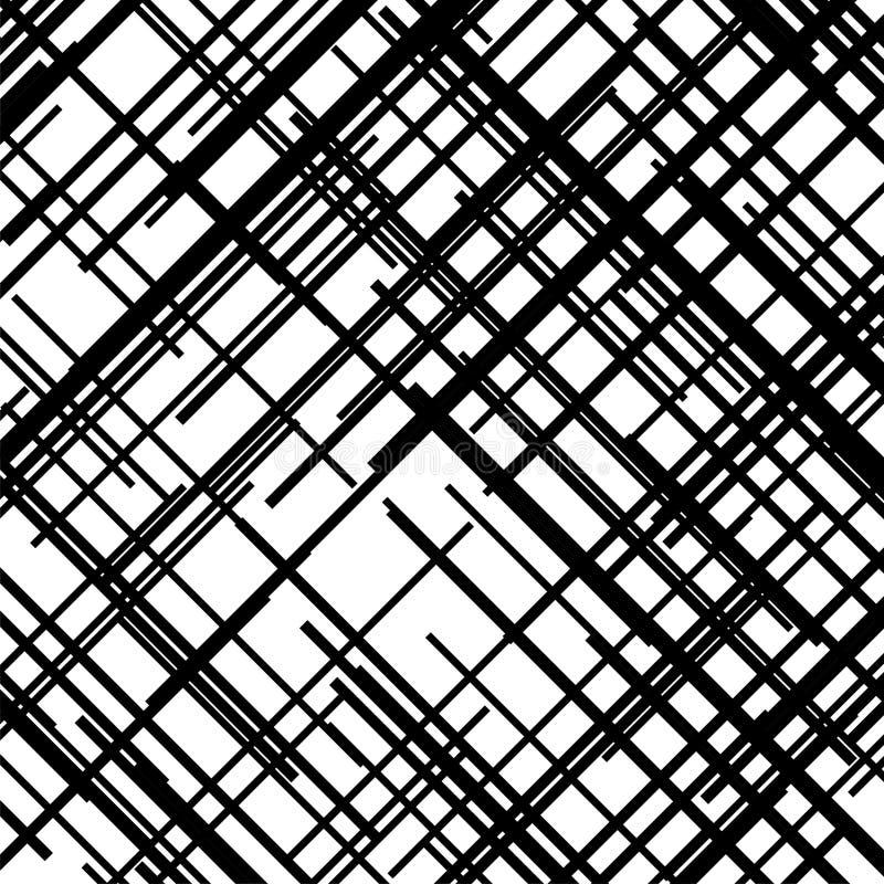 Modèle de croix de Criss Texture avec les lignes droites de intersection Hachure de Digital Illustration de vecteur illustration stock