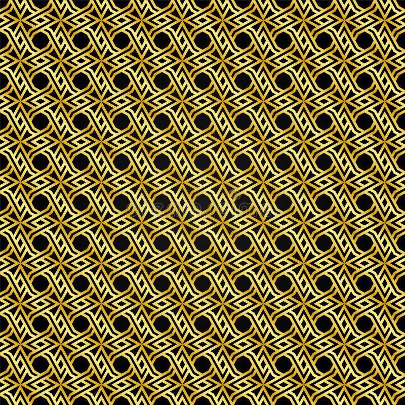 Modèle de modèle d'or avec un fond noir comme fond abstrait illustration libre de droits