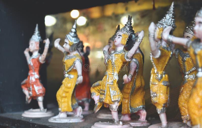 Modèle de danse traditionnelle thaïlandaise, Thaïlande images stock