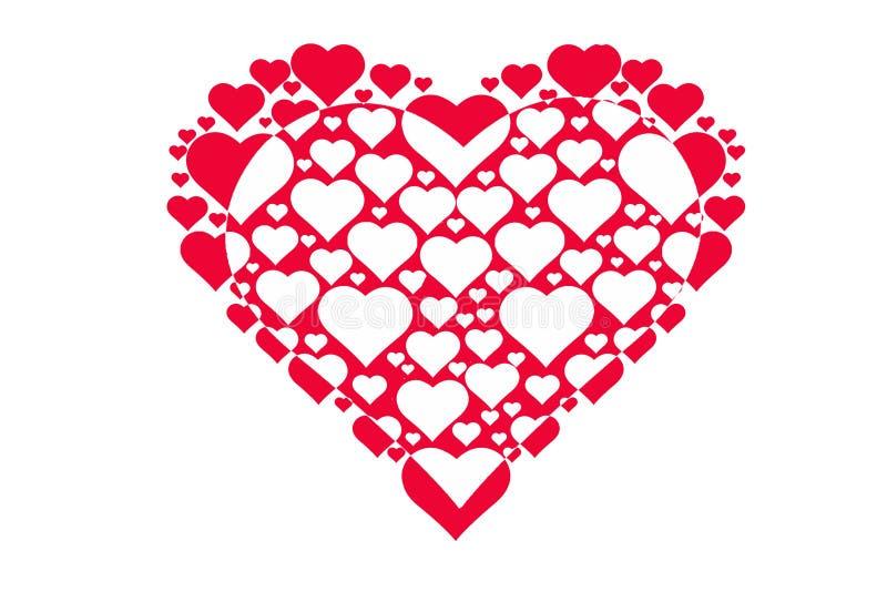 Modèle de dessin des coeurs, symbole de l'amour, jour du ` s de Valentine photo stock