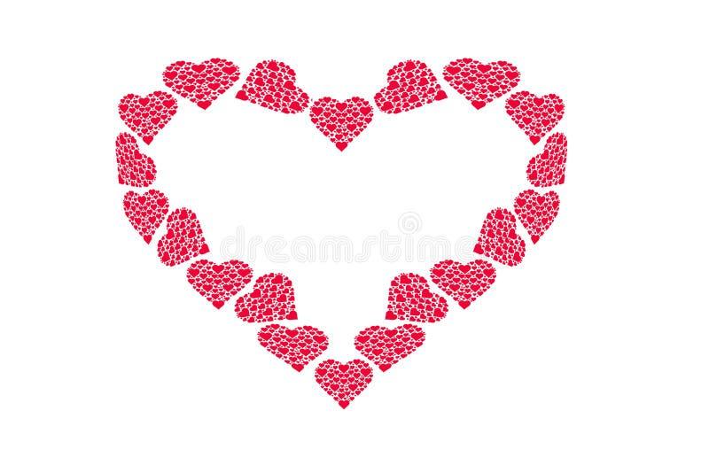Modèle de dessin des coeurs, symbole de l'amour, jour du ` s de Valentine photos stock