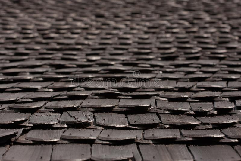 Modèle de dessus de toit de bardeau de vintage sur la maison traditionnelle photos stock