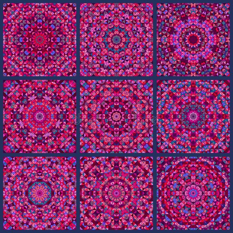 Modèle de Digital de fond indien ethnique de patchwork Papier peint sans joint illustration libre de droits