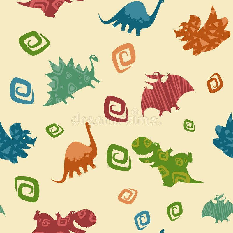 Modèle de Dino Baby illustration de vecteur