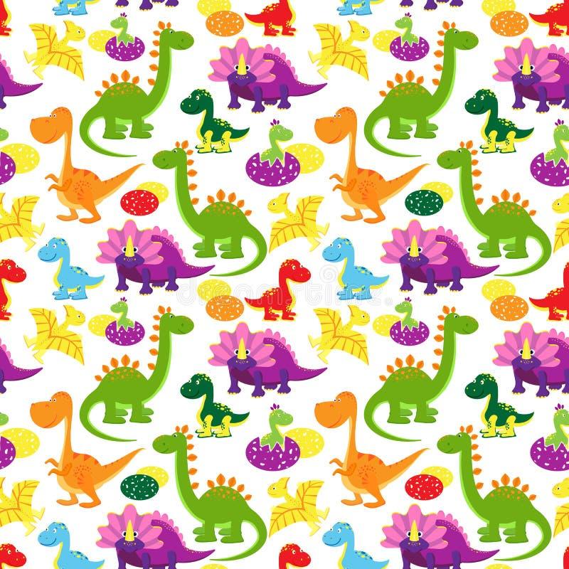 Modèle de dinosaures de bébé illustration libre de droits