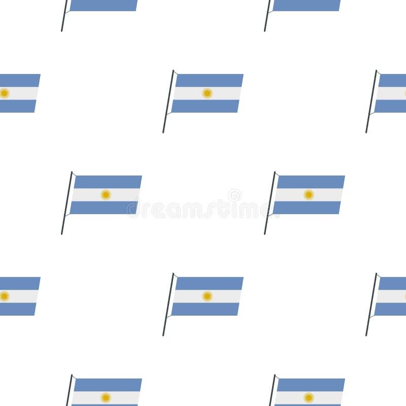 Modèle de drapeau de l'Argentine sans couture illustration stock