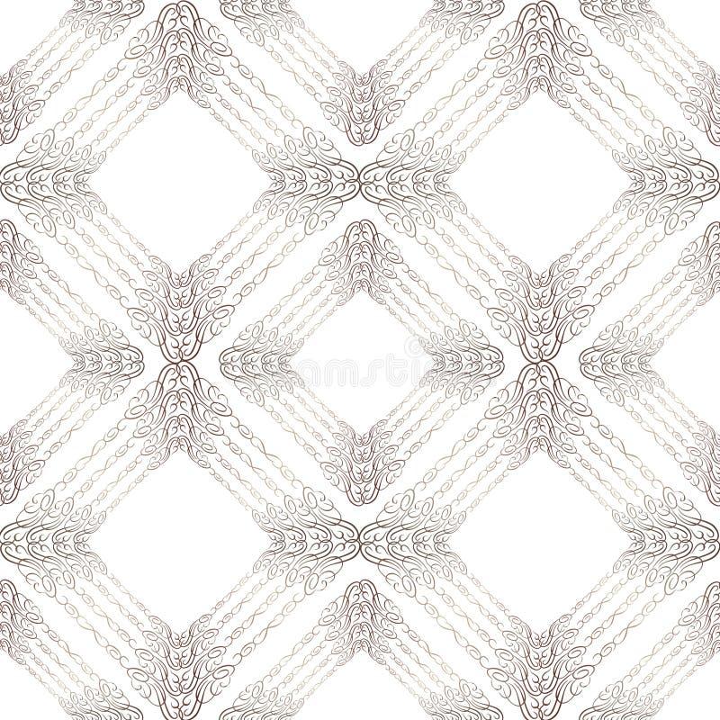 Modèle de fête sans couture oriental Fond texturisé de brocard abstrait illustration stock