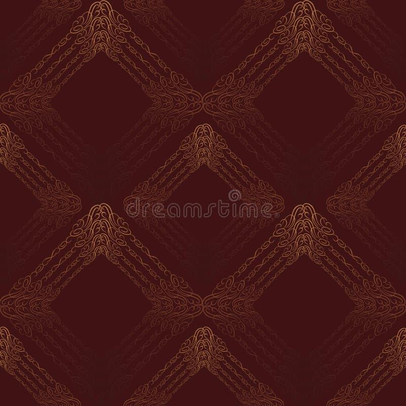 Modèle de fête sans couture oriental Fond texturisé de brocard abstrait illustration de vecteur
