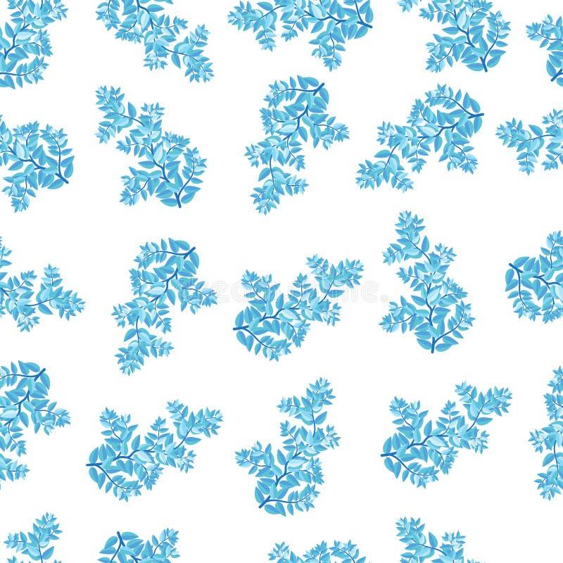 modèle de feuille de couleur de bleu de ciel petit à l'arrière-plan blanc photographie stock libre de droits