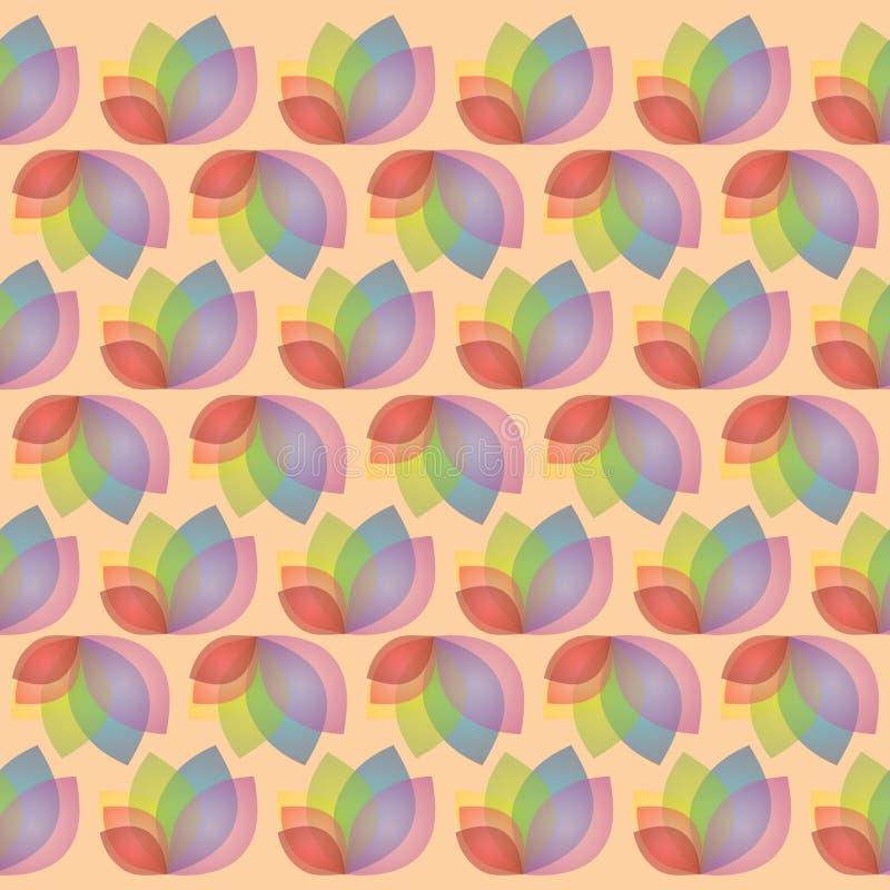 Modèle de feuille florale image stock