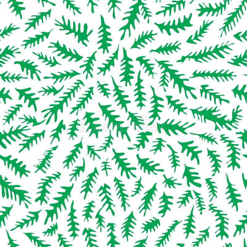 Modèle de feuilles illustration libre de droits