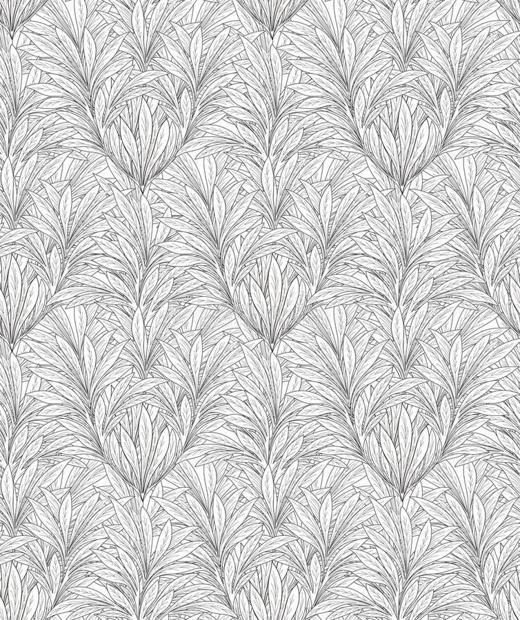 Modèle de feuilles Backgound sans couture de feuille illustration de vecteur