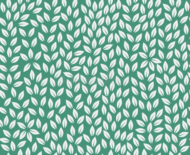 Modèle de feuilles Fond sans fin Papier peint sans joint de nature illustration libre de droits