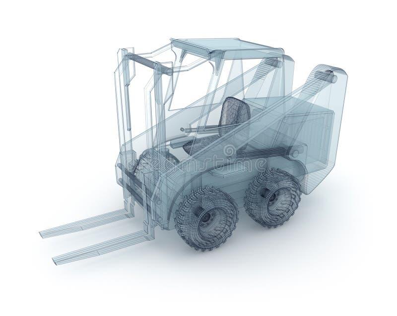 Modèle de fil de chariot élévateur illustration stock