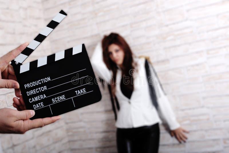 Modèle de film images stock