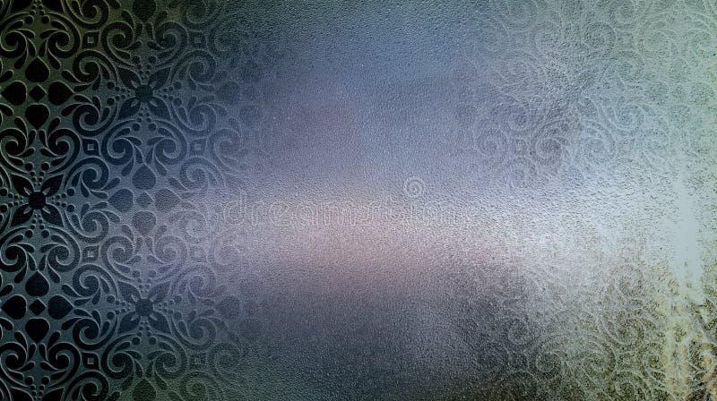 Modèle de fleur à l'arrière-plan de grunge de rosée illustration de vecteur