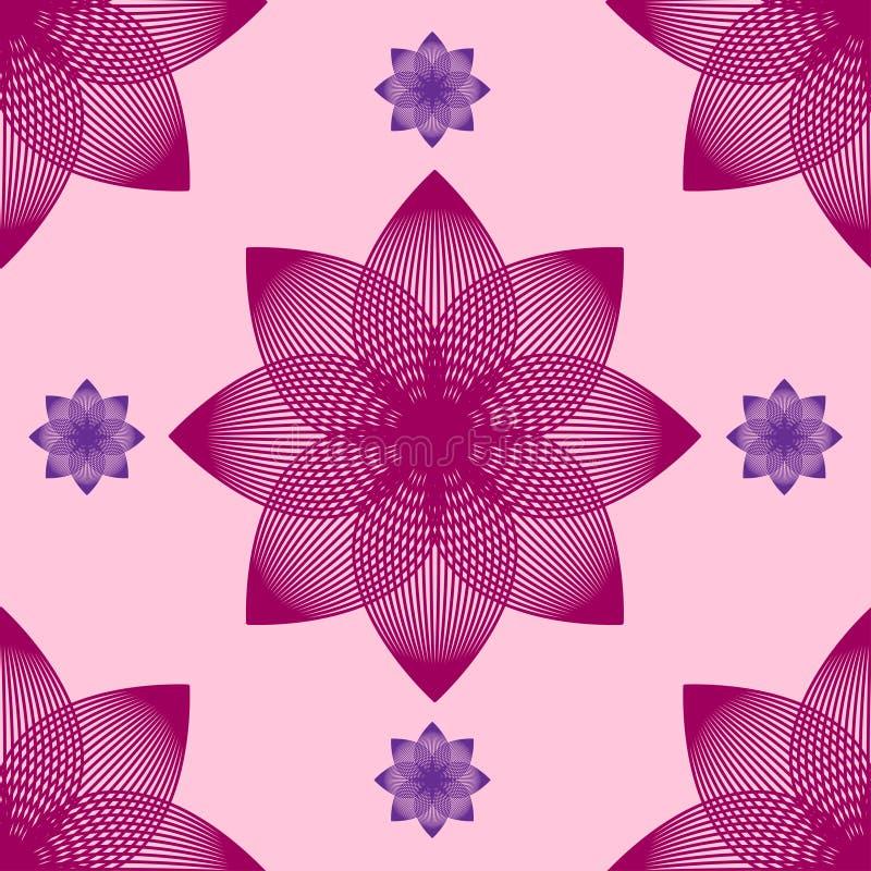 Modèle de fleur abstrait sans couture par des mélanges illustration stock
