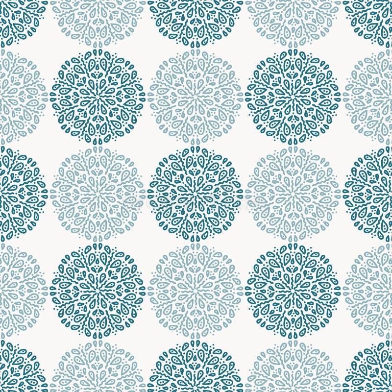Modèle de fleur de dentelle de bleu marine sur le fond blanc illustration libre de droits