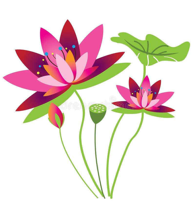 Modèle de fleur de Lotus illustration libre de droits