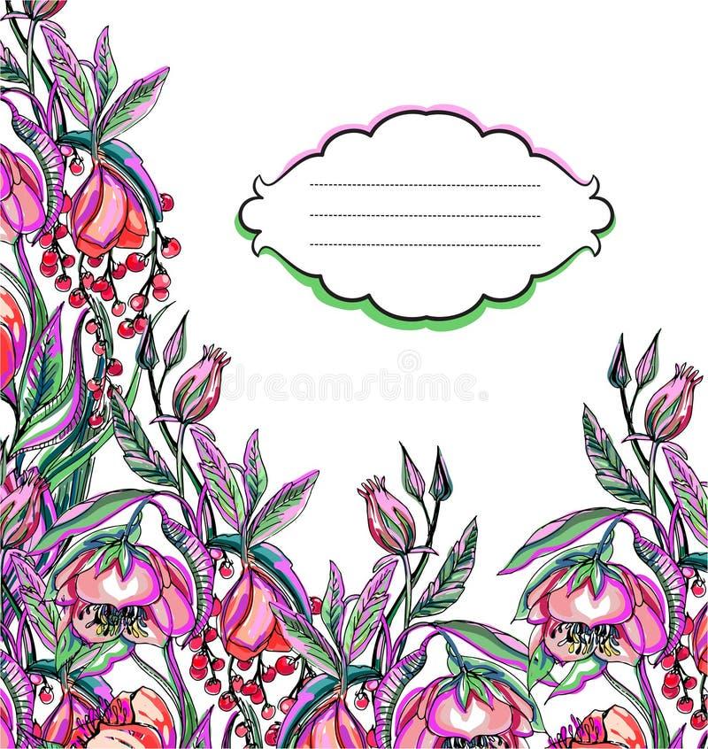 Modèle de fleur de vecteur d'illustration illustration de vecteur