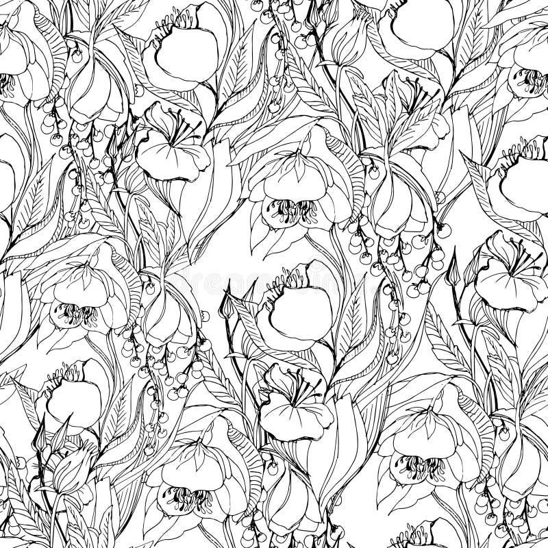 Modèle de fleur de vecteur d'illustration illustration libre de droits