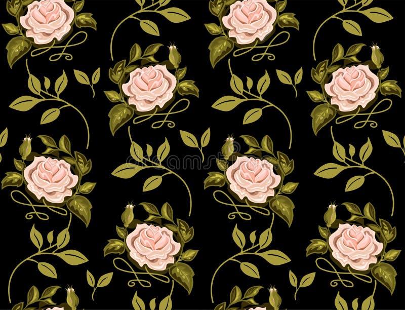 Modèle de fleur des roses dans un vecteur illustration libre de droits