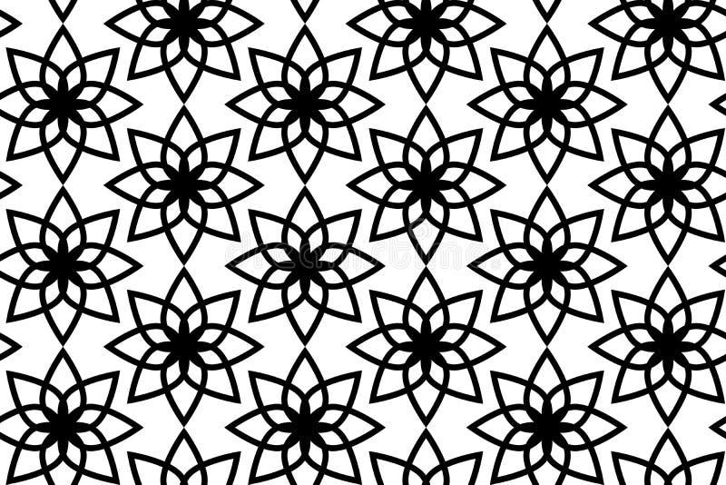 Modèle de fleur géométrique sans couture de vecteur illustration stock