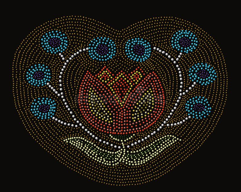 Modèle de fleur de natif américain illustration libre de droits