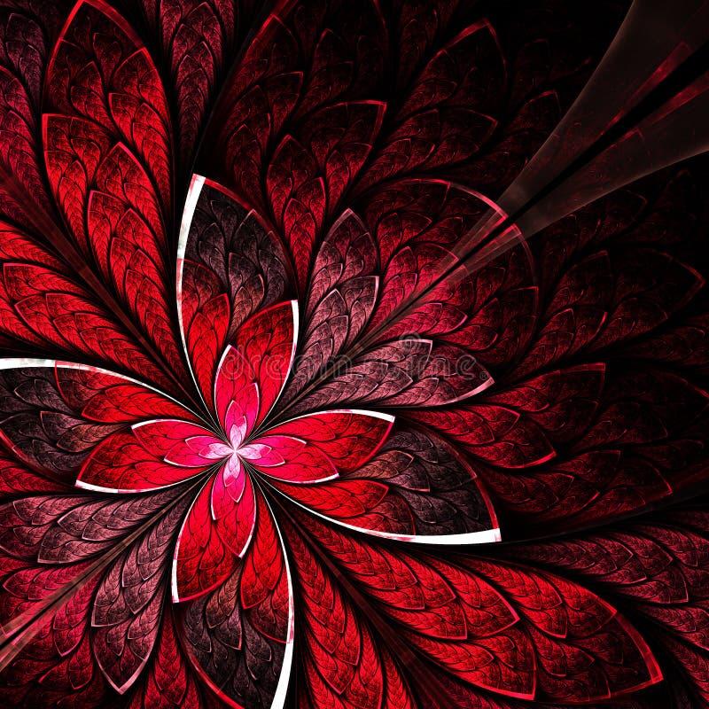 mod le de fleur sym trique dans le style de vitrail pa rouge illustration stock image 46727653. Black Bedroom Furniture Sets. Home Design Ideas