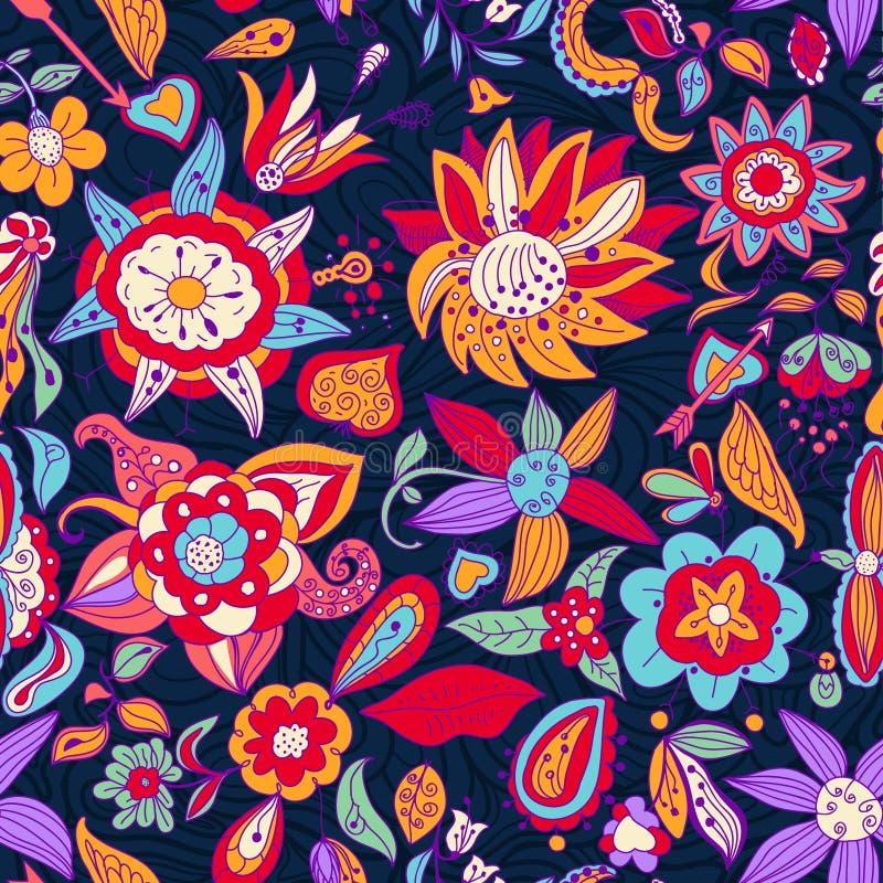 Modèle de fleurs. illustration stock
